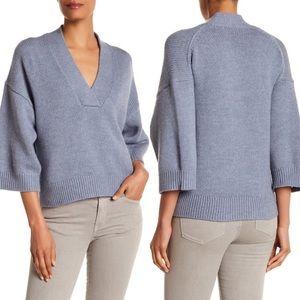 360 Cashmere Heliose Italian Wool Sweater Blue
